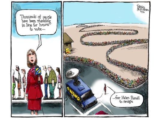 Angry Arizona voters line up again