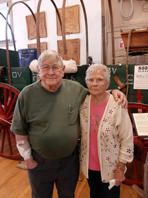 Ray Bourne from Arizona and his sister Zola Six stop by the Rawlings Heritage Center and Museum.