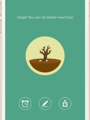 When you check your phone too much while using the Forest app, your daily tree will wither and die.