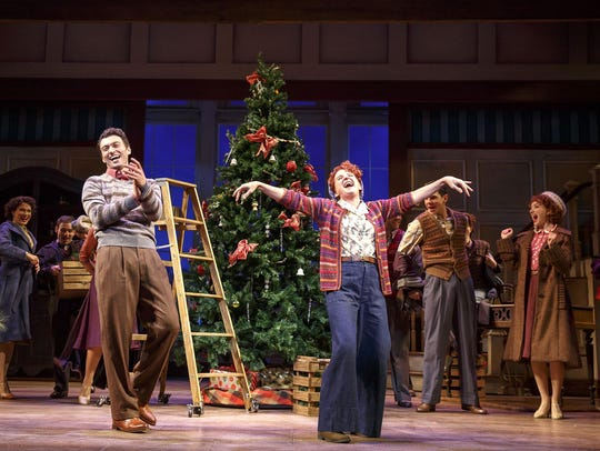 """Bryce Pinkham, Megan Lawrence and the company of """"Holiday"""