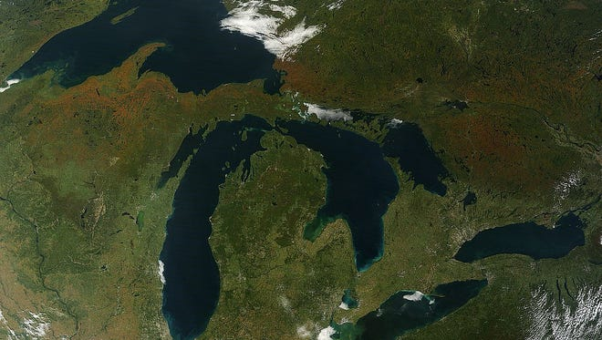 The Great Lakes touch eight states and Canada, and provide drinking water to over 40 million people.