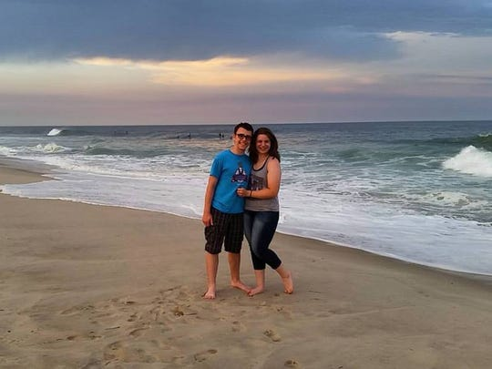Kay Mastrocola and her boyfriend.