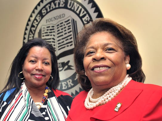 Dr. Wilma Mishoe (right) has been named as the first