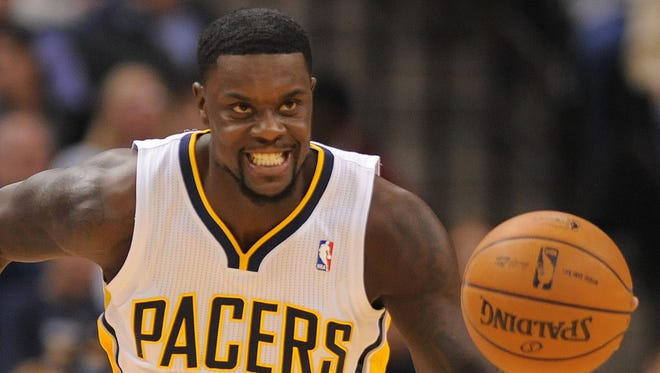 Lance Stephenson is seen during game action during the Washington Wizards earlier this season.