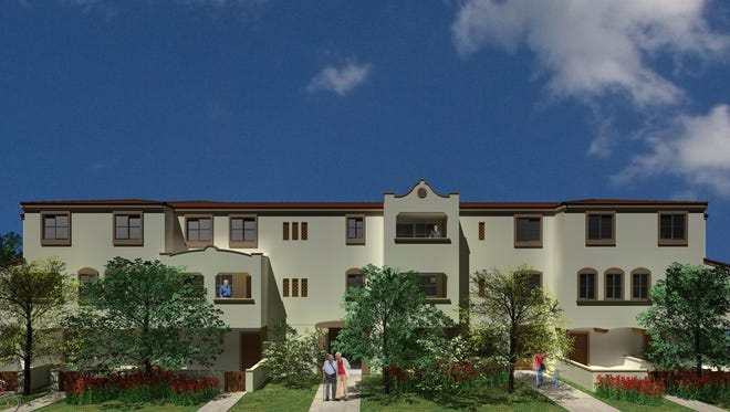 A rendering of a veterans housing project slated for Saviers Road in Oxnard.
