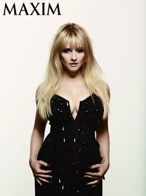 'Big Bang Theory' star Melissa Rauch poses for the December issue of 'Maxim' mag.