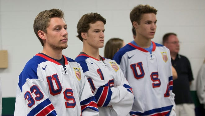 USA Hockey players in Plymouth.