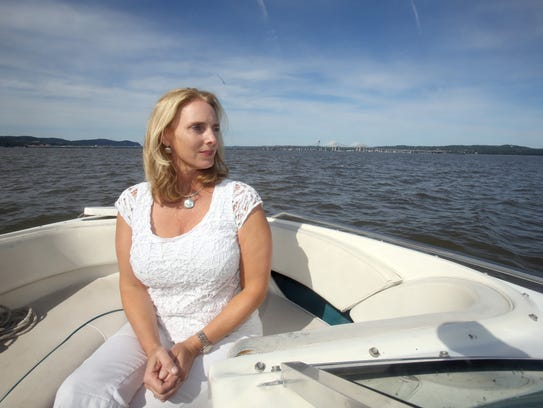 Eileen Carey of Tappan, photographed on her boat Sept.