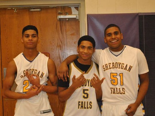 A photo of brothers, from left, Jordan, Juwaun and