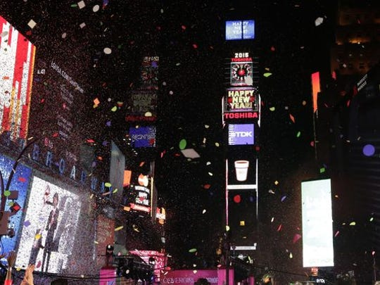 New Year's celebration at New York's Times Square on Jan. 1, 2015.