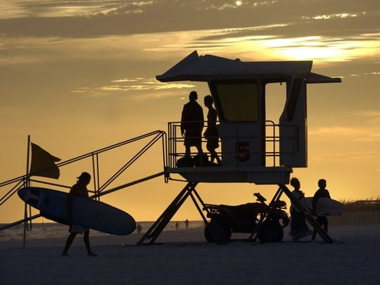 Pensacola Beach lifeguards.