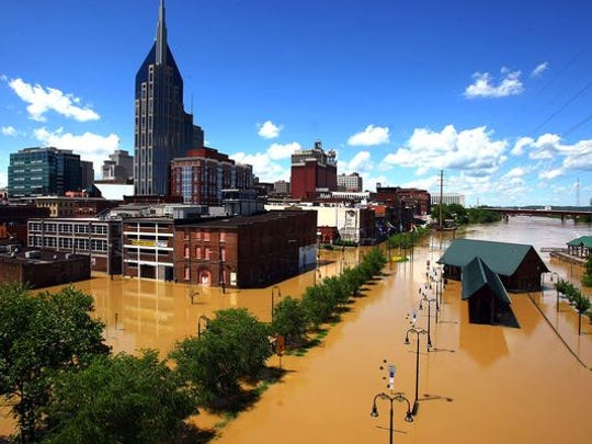 Nashville was hit by a devastating flood in May 2010.
