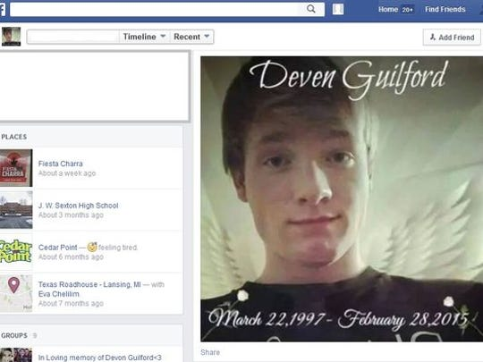 Deven Guilford's Facebook page.