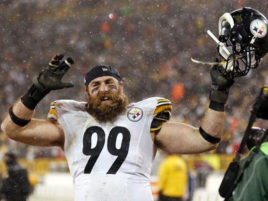 #99 on the Pittsburgh Steelers Brett Kiesel was the teachers' inspiration. He allowed fans to cut off his beard to raise money for the children's hospital in Pittsburgh
