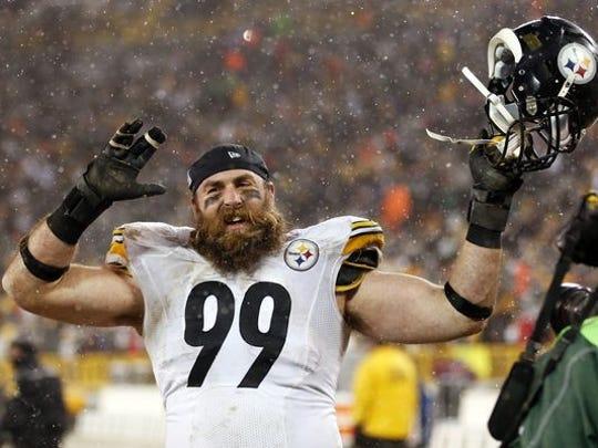 #99 on the Pittsburgh Steelers Brett Kiesel was the