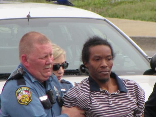 Sherrick Vaughn is taken into custody Saturday afternoon.