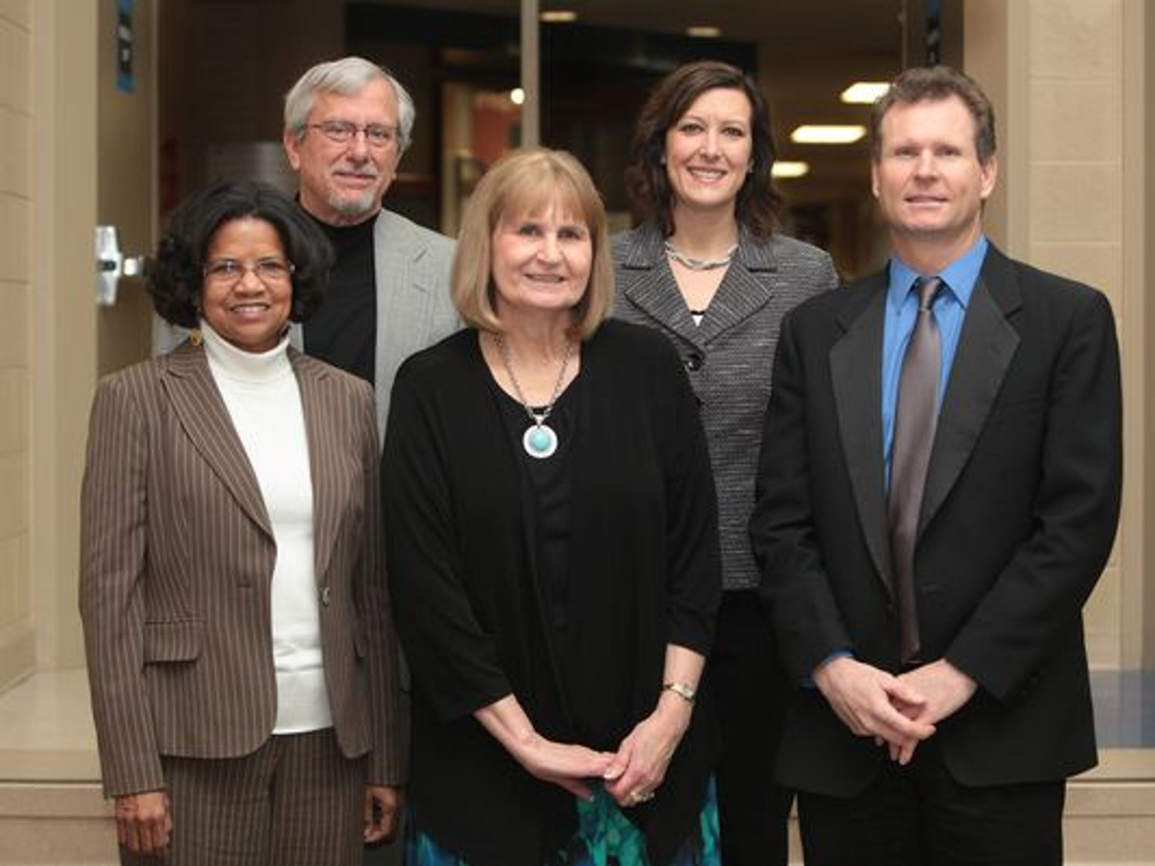 The five candidates for School Board