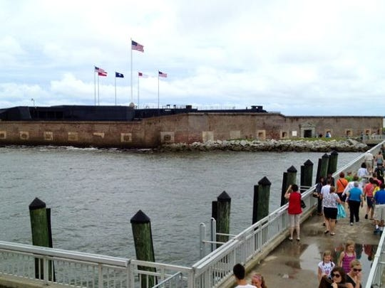 Boats drop off visitors to Fort Sumter National Monument in Charleston, S.C. Access to the site is about to get more regulated.