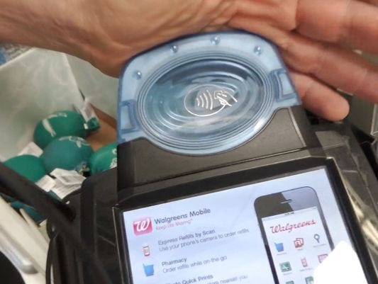 Apple Pay terminal at Walgreens