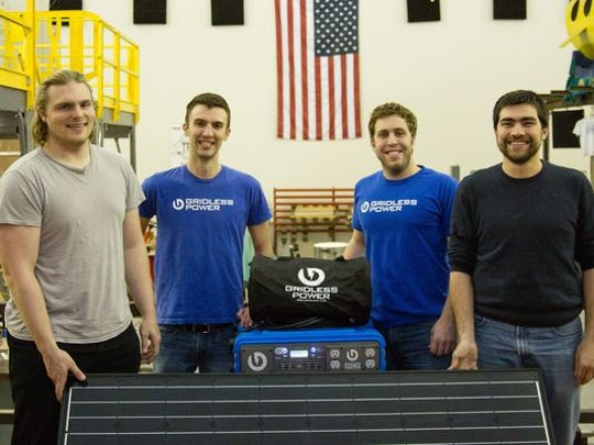 Gridless Power staff members (from left) Thomas Carter,