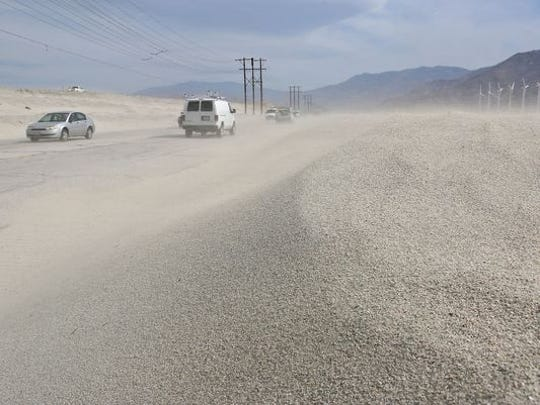 Strong winds are expected in the Coachella Valley Wednesday.