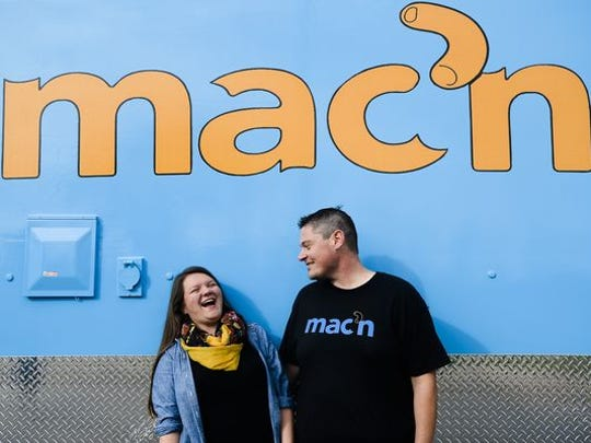 Laura and Von Morton run the macaroni and cheese food truck called Mac'n.