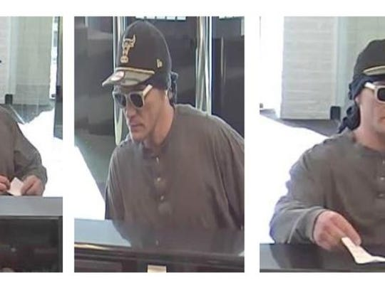 Police are searching for this man, who allegedly robbed a TD Bank on Mule Road.