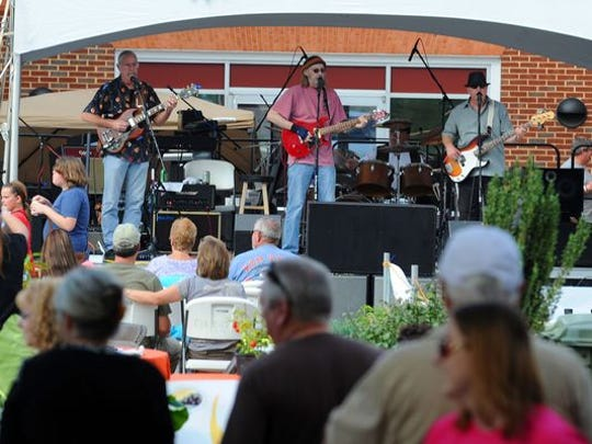 Pure Blind Luck performs at the Virginia Chili, Blues 'N Brews Festival in downtown Waynesboro in 2012.