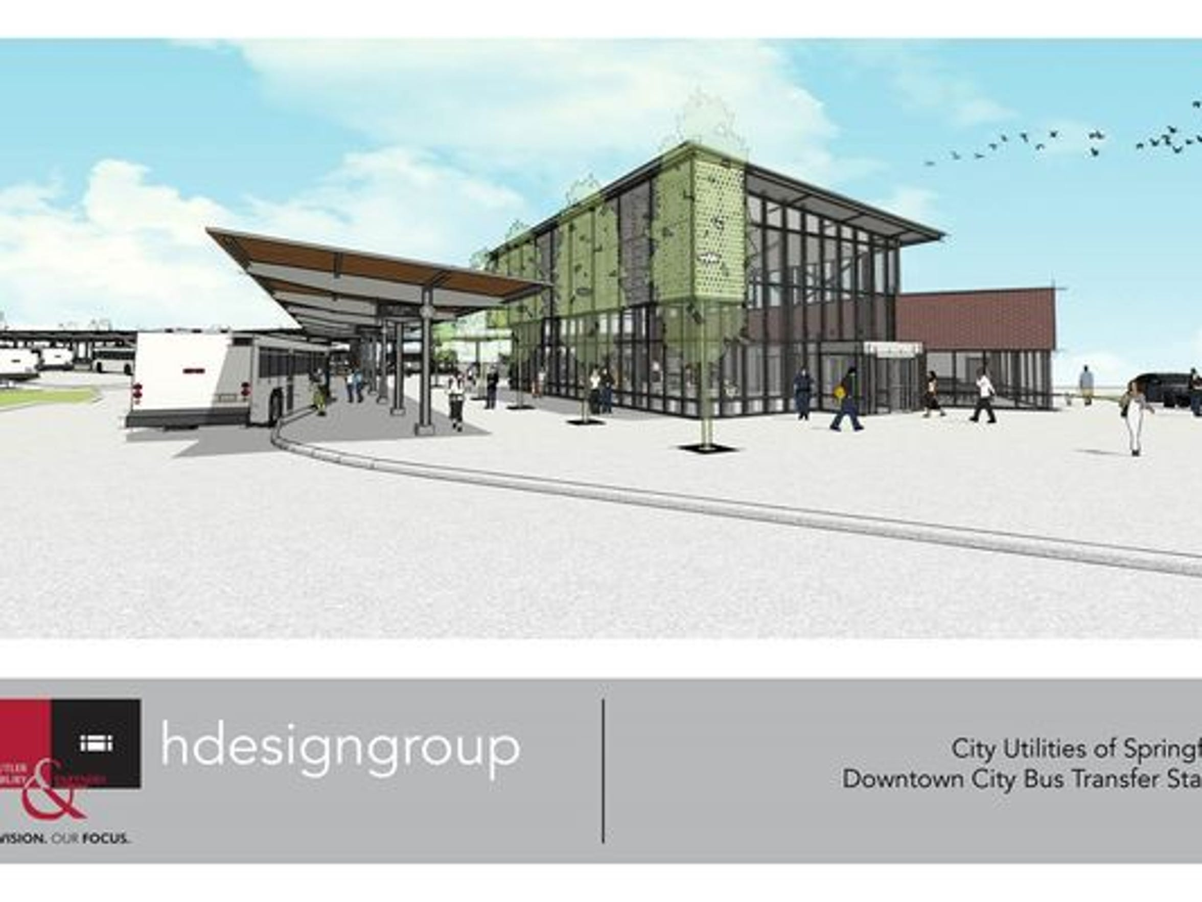 CU shows off planned design of new bus transfer station