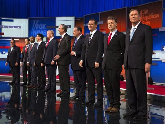 The Republican candidates for President of the United States appear to be preparing for a GOP kickline.