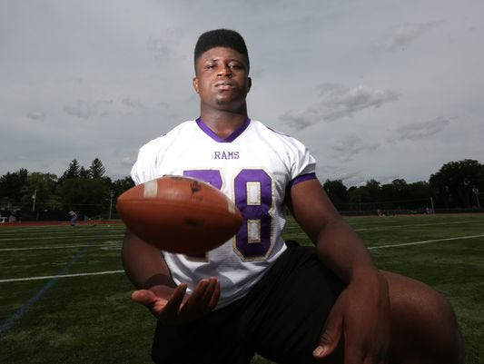 Clarkstown North senior Prince Emili, an Ivy League football recruit.