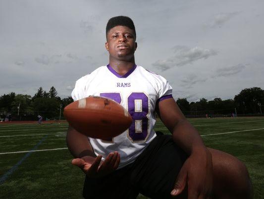 Clarkstown North senior Prince Emili, an Ivy League football recruit.