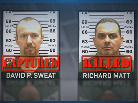 Convicted killers David Sweat and Richard Matt escaped