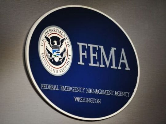 The logo of the Federal Emergency Management Agency (FEMA) is seen at its headquarters August 27, 2011 in Washington, D.C.