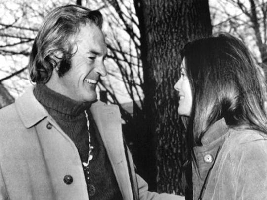 """""""The high priest of LSD"""" Timothy Leary talks on Dec. 11, 1967, with his wife Rosemary after he was arraigned on various charges concerning the possession and sale of dangerous drugs. Part of his ashes were brought to Burning Man this year for a memorial ceremony led by actress Susan Sarandon."""
