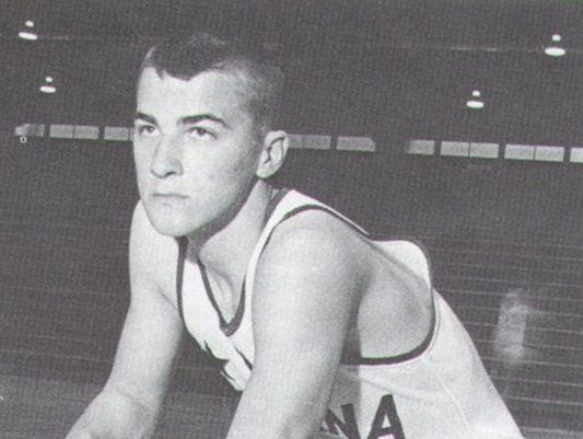 Louie Dampier shown in 1963 in his Indiana All-Star photo.