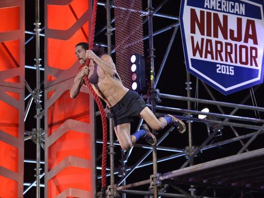 Isaac Caldiero, 33, became America's first ninja warrior