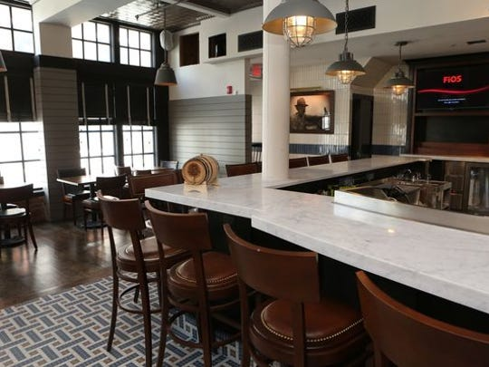 The bar at Saltaire Oyster Bar and Fish House, which opened in Port Chester in August.