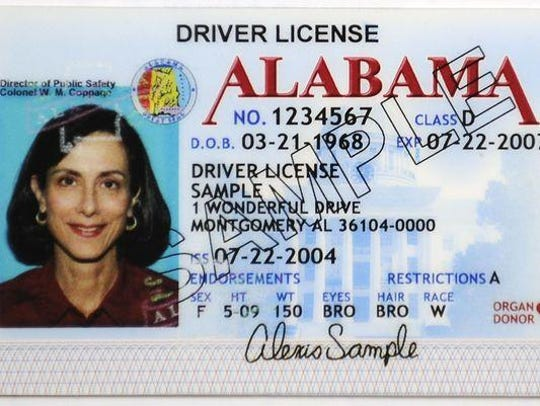 A sample driver's license. An analysis of transactions