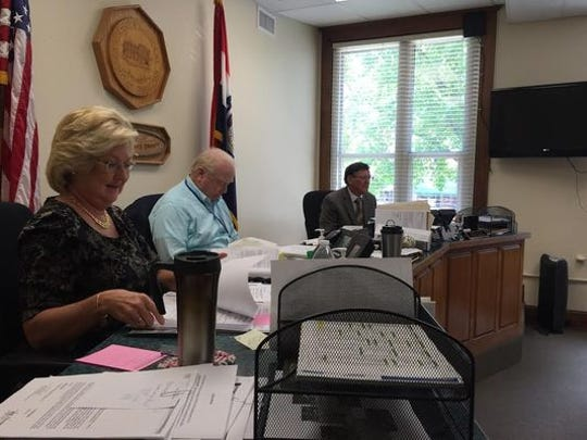 The Christian County commissioners, from left: Sue