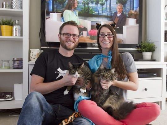 A video taken by Aaron O'Maley of his wife Charrisa as she came out of anesthesia from eye surgery and talked about Ellen DeGeneres and O'Maley's cat rescue efforts made its way to the Ellen DeGeneres Show's Website, which prompted DeGeneres's producers to invite Charrisa onto the show.