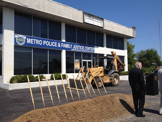 Ground was broken in August at the former Carl Black Chevrolet for the Family Justice Center, which will serve as one place for Metro police divisions and nonprofit agencies to serve adult and child abuse victims. The former dealership building has since been demolished.