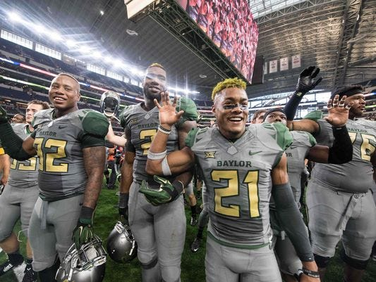 Baylor retained the No. 1 spot in the FourSight College Football Playoff projection.