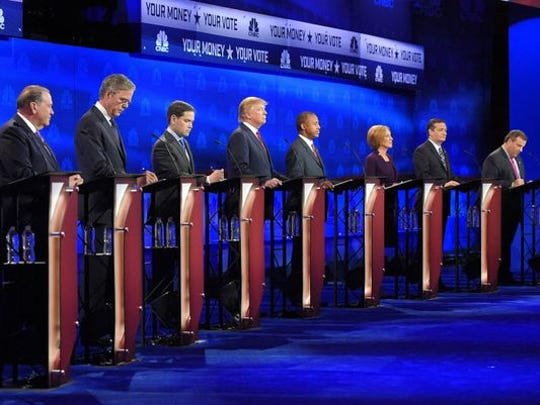 Republican presidential debate in Boulder, Colo., in
