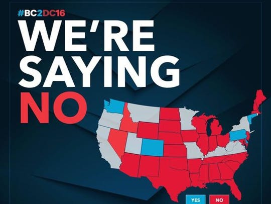 A map tweeted by Ben Carson's Campaign wrongly shows
