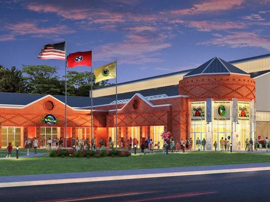 A rendering of the Wilson County Expo Center.