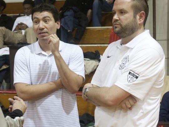 Matawan High School basketball coach John Giraldo (left) has marveled at Darrell Rogers' progress.