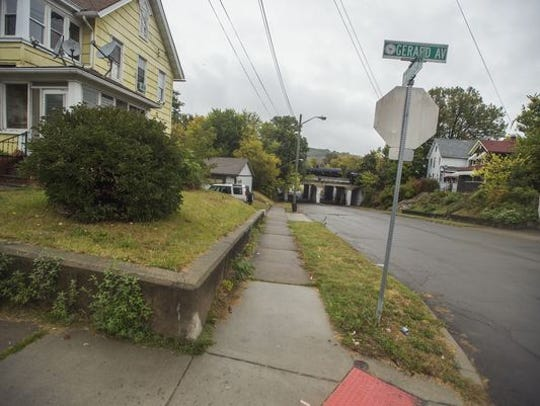 The corner of Gerard Avenue and Murray Street in Binghamton.