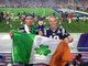 A pair of NFL fans from Ireland snuck into University
