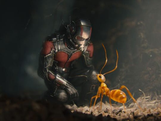 "Ant-Man talks to a fire ant in the film ""Ant-Man"""